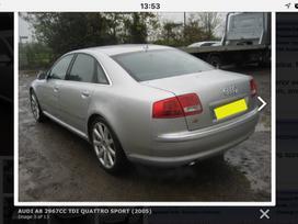 Audi A8 dalimis. Naujai ardomas puikios