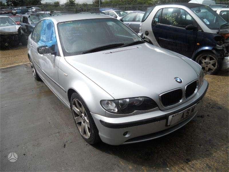 BMW 3 serija. Bmw 320 2002m. juodas odinis salonas, lieti ratai,
