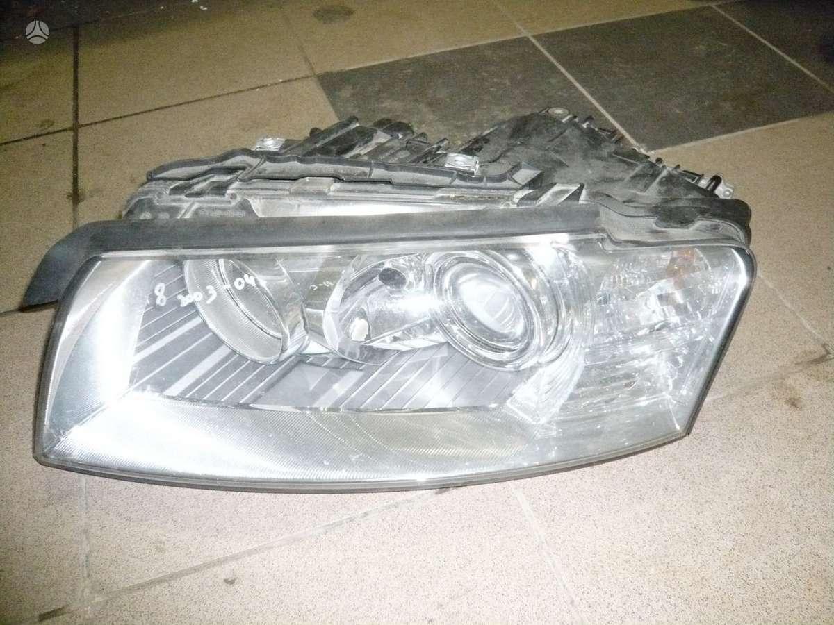 Audi A8. Kapotas,zibintas,halogenas desnes puses,
