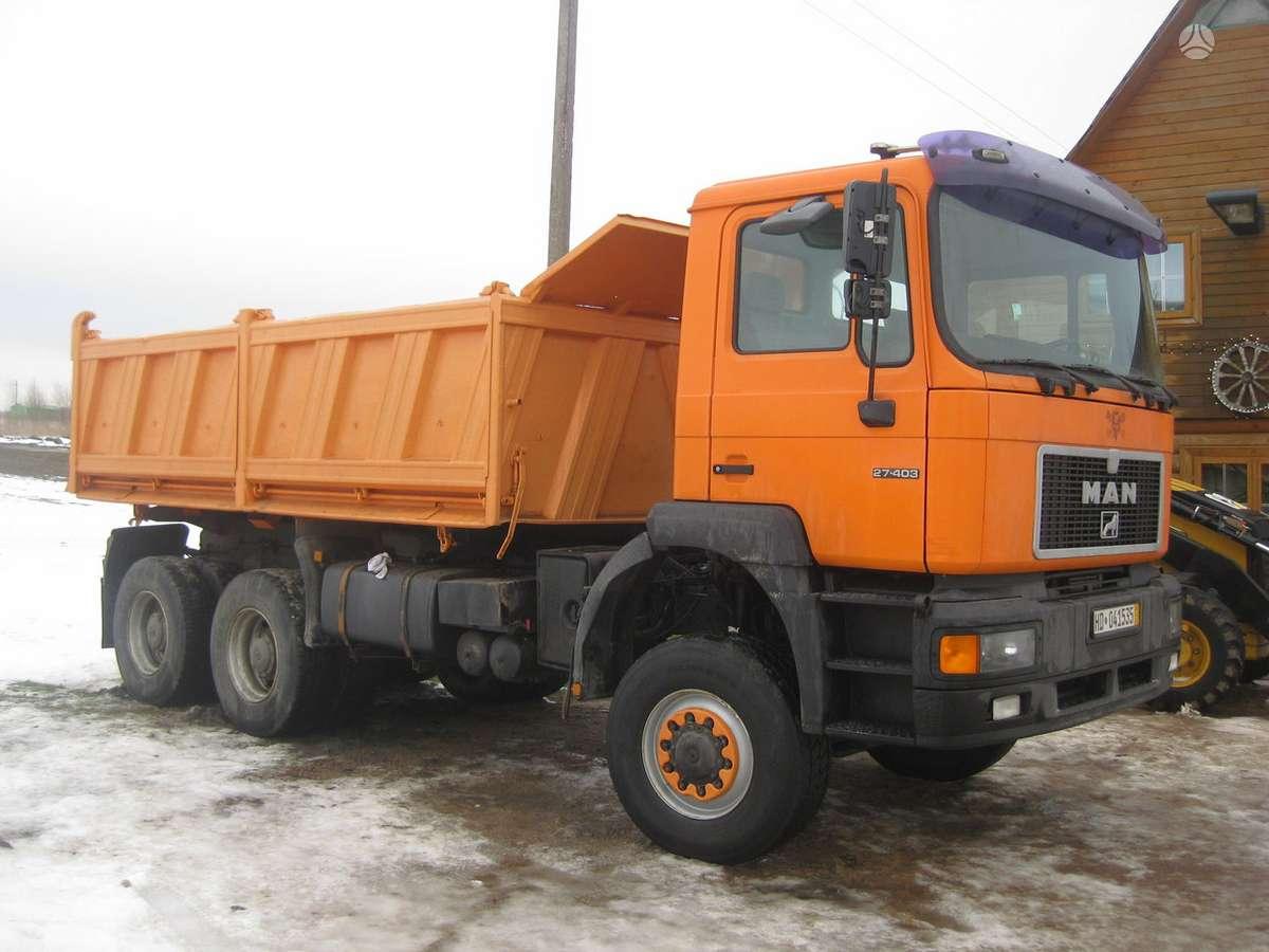 MAN 6x6,6x4 savivarcio  paslaugos, sunkvežimių nuoma