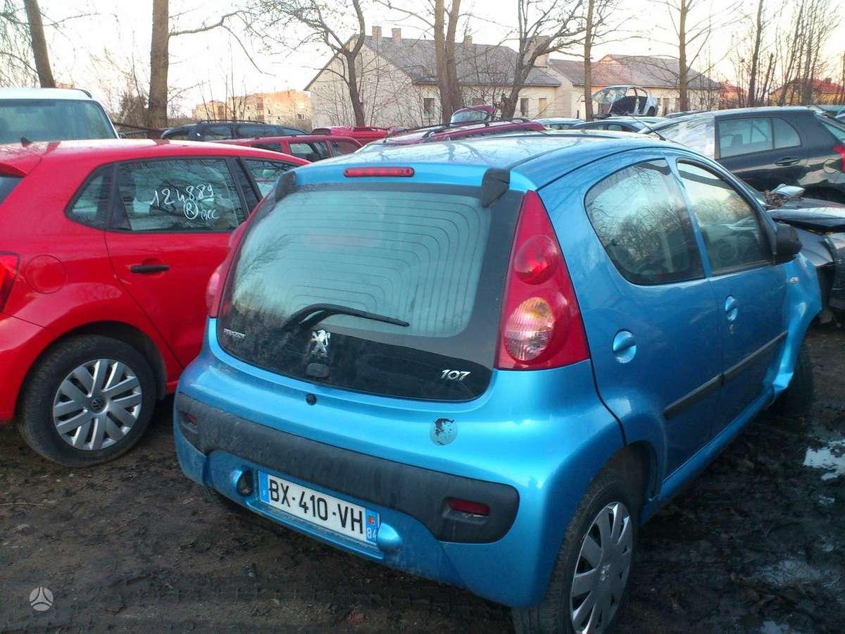 Peugeot 107 dalimis. Iš prancūzijos. esant galimybei,