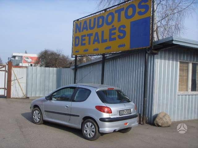 Peugeot 206. Dalimis turime daugiau pezo 206. dalimis.uab