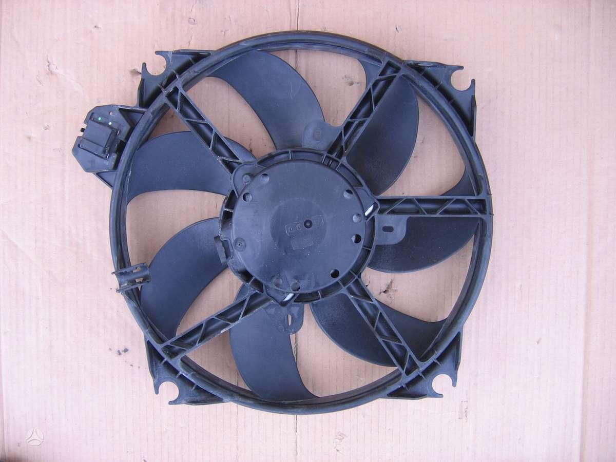 Renault Scenic kondicionieriaus radiatorius, vandens radiatorius, ventiliatorius