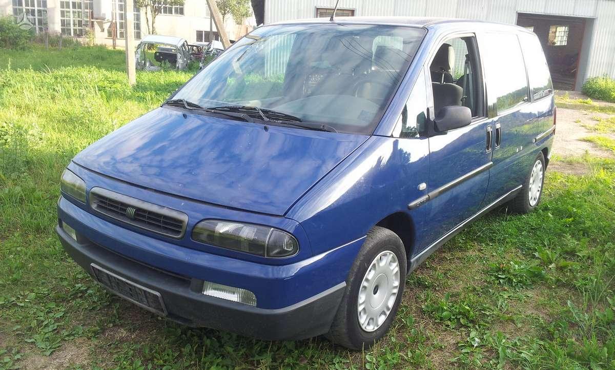 Fiat Ulysse. Jtd 2,0 16v iš vokietijos tvarkingas salonas veliū