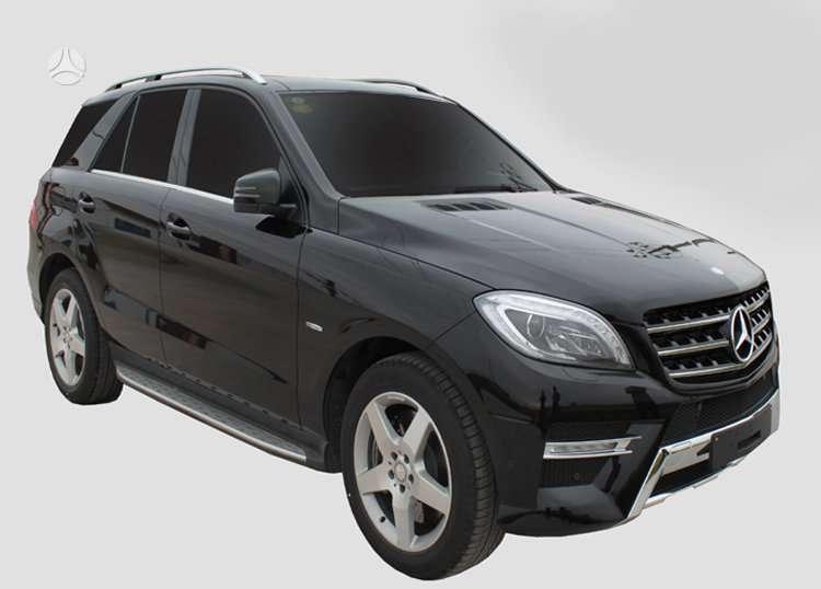 Mercedes-Benz ML klasė. пороги mercedes ml (w166) oem style.  mы