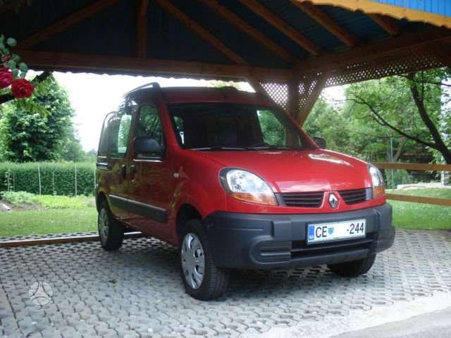 Renault Kangoo dalimis. 4x4 is voketijos