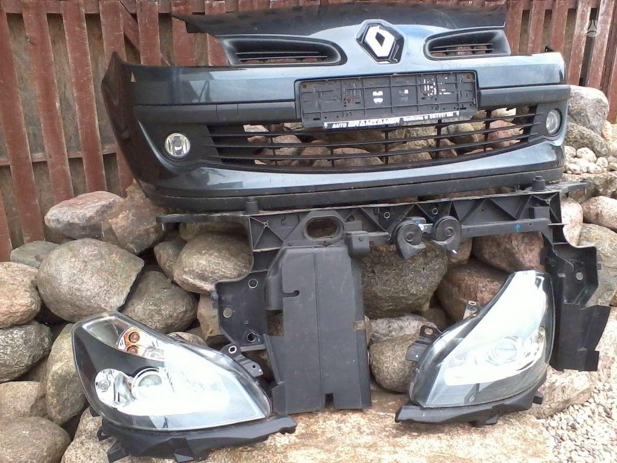 Renault Clio. Pr.buferis,pr.buferio balkis, pr.panelė, žibintai
