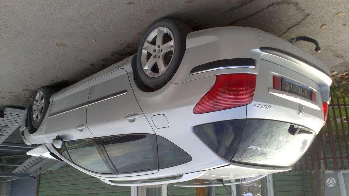 Peugeot 407. Turiu skardinius r16 ratlankius su zieminem