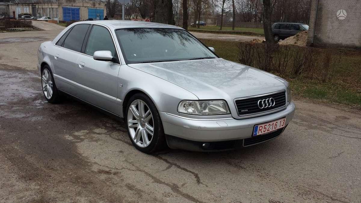 Audi A8 dalimis. Pati pilniusia komplektacija..tv-navi, dvigubi