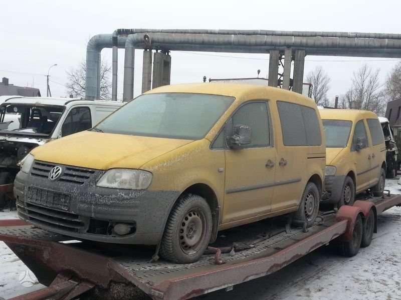 Volkswagen Caddy dalimis. Iš vokietijos, serviso paslaugos