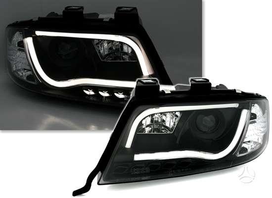 Audi A6 dalimis. Audi a6 priekiniai tuning žibintai šviesūs arba