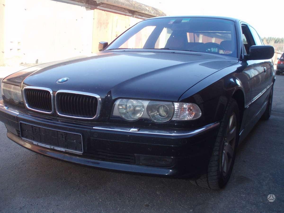 BMW 740 dalimis. Individual, juodos lubos,pilnas !!!