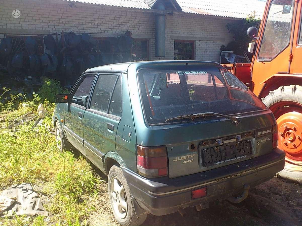 Subaru Justy dalimis. Iš prancūzijos. esant galimybei,