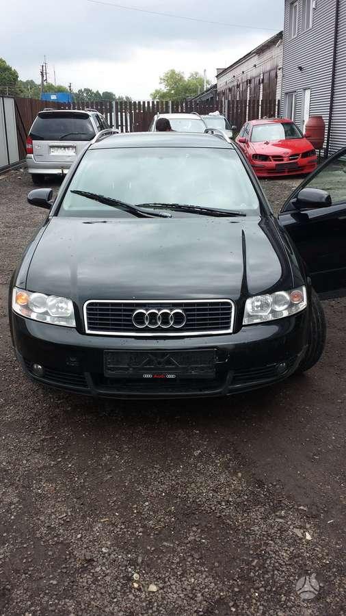 Audi A4 dalimis. Audi a4 02m. 2.5tdi 132kw,,varyklis bei dezhe