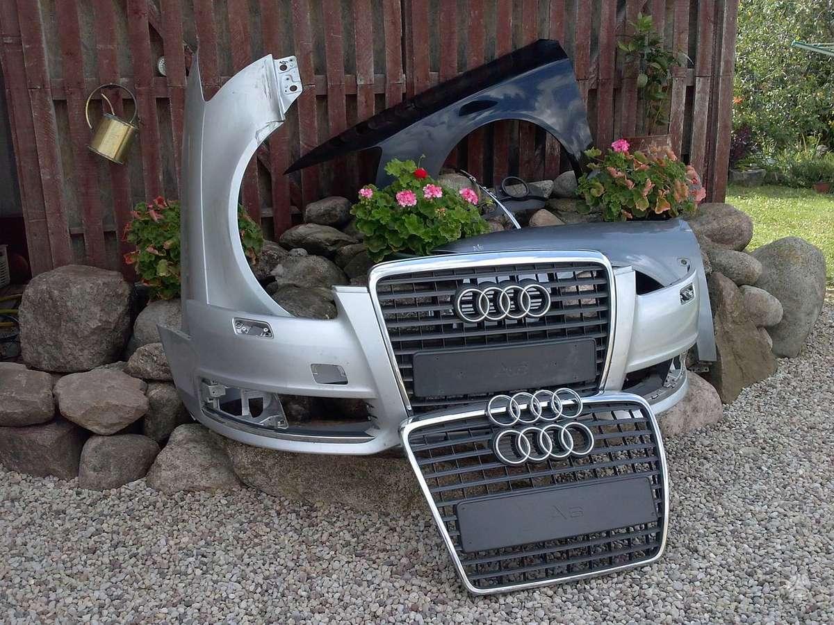 Audi A6. Priekinis kapotas ,pr.buferis ,pr. sparnai, gal.