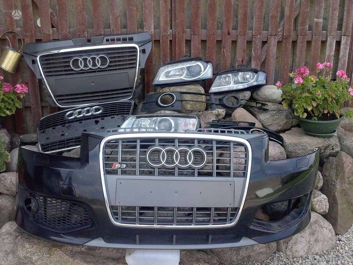 Audi S3. Priekinis buferis,grotelės,sparnai,pr.kapotas, gal.