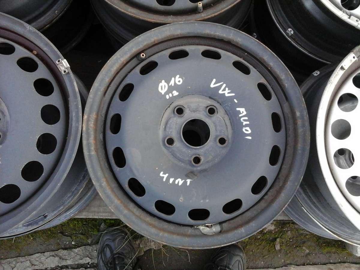 Audi VOLKWAGEN, plieniniai štampuoti, R16