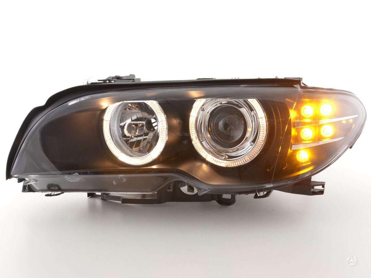 BMW 3 serija. naujos tuning dalys. priekiniai zibintai  su
