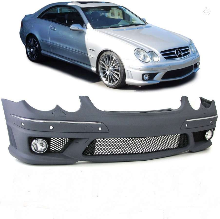 Mercedes-Benz CLK klasė. tuning dalys.amg bamperis +ruko