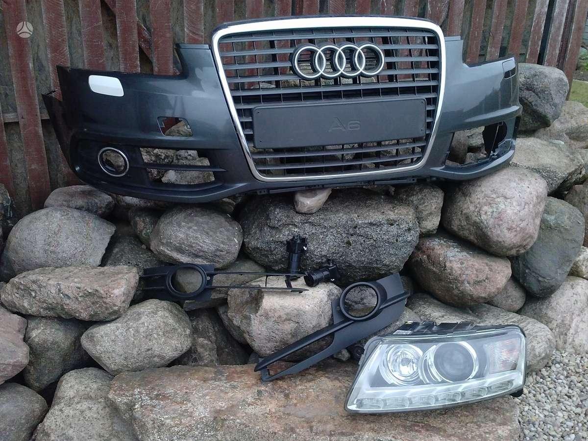 Audi S6. Priekinis buferis,s-6, s-line grotelės, rūko žibintų