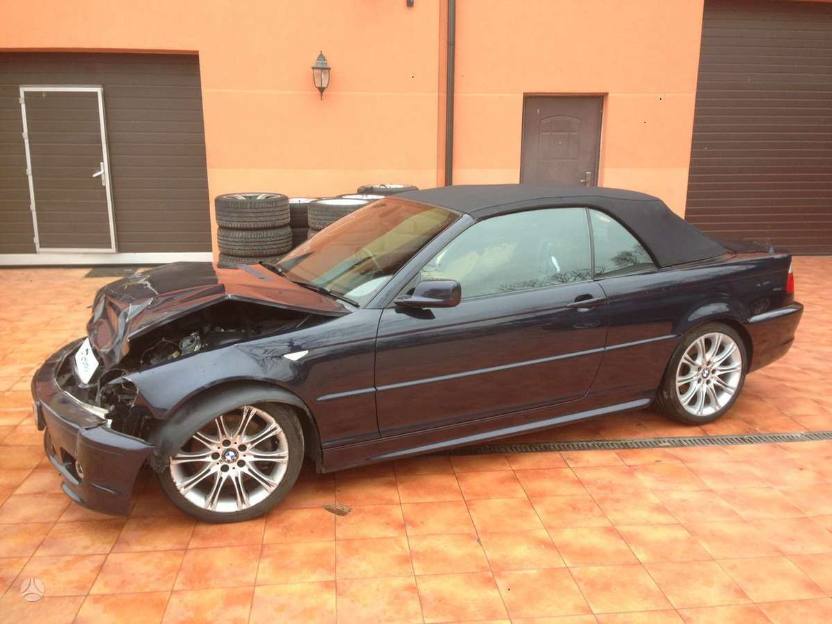 BMW 330 dalimis. E46 sedan, coupe, compact, cabrio, touring
