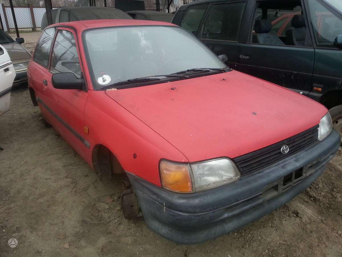 Toyota Starlet dalimis. Prekyba originaliomis naudotomis detalė