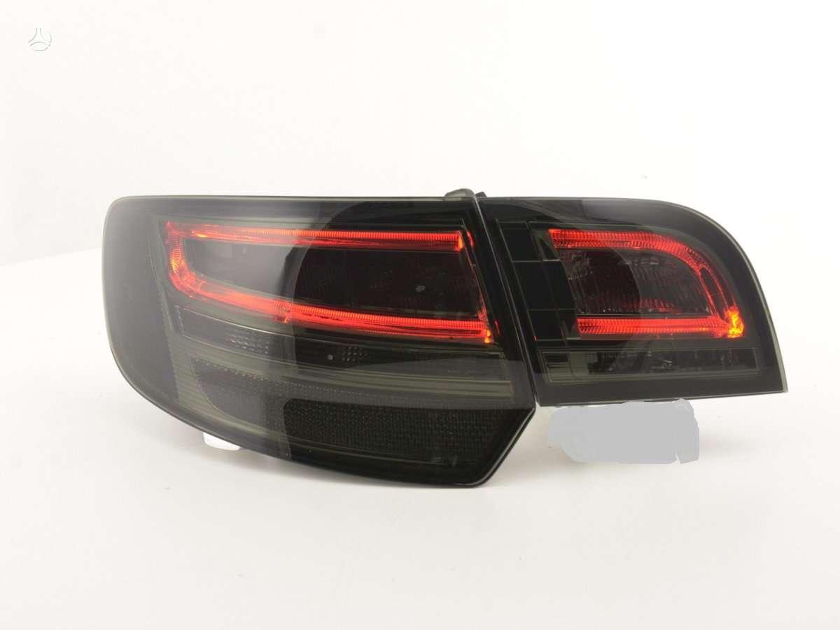 Audi A3. naujos tuning dalys. galiniai su led-raudoni-chrom ;
