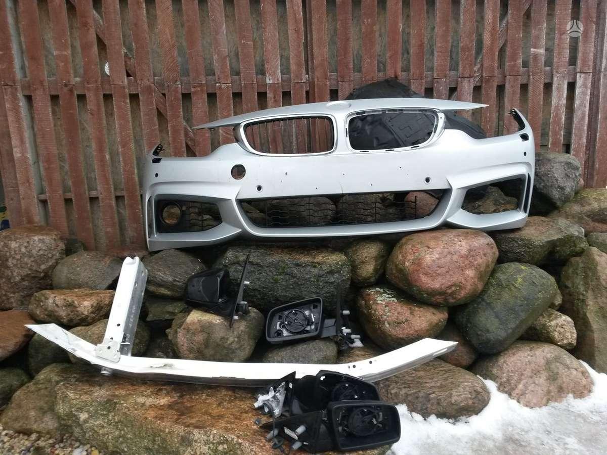 BMW 4 serija. Priekiniai žibintai, sparnai, pr.kapotas, pr.panelė