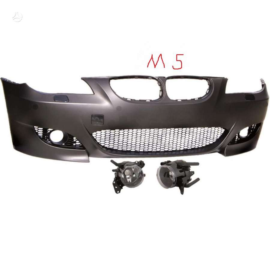 BMW 5 serija. m5priekinis  bamperis -su pdc arba be pdc skyliu..