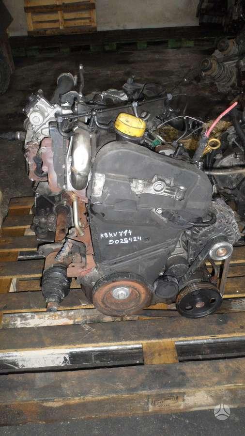 Renault Kangoo.  variklio kodas k9k 714