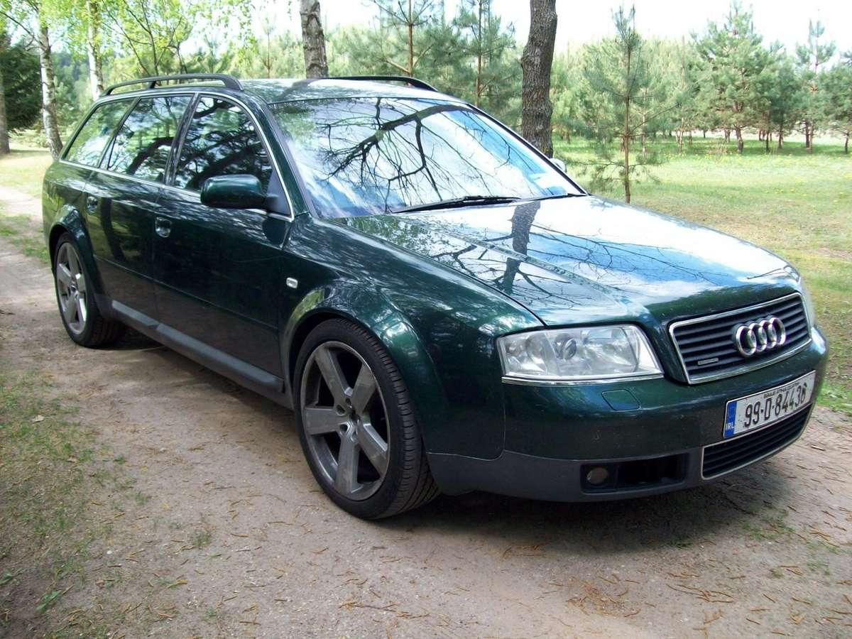 Audi A6 dalimis. 3 automobiliai (universalas ir sedanas) audi a6
