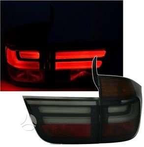 BMW X5. Galiniai 07-10m   lci optik zibintai -raudoni smoke,