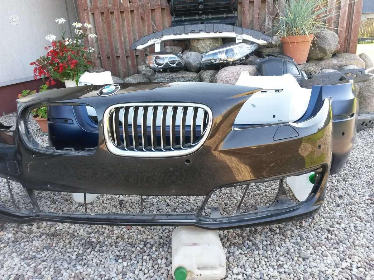 BMW 5 serija. Priekiniai žibintai, pr.kapotas,pr.buferis, m