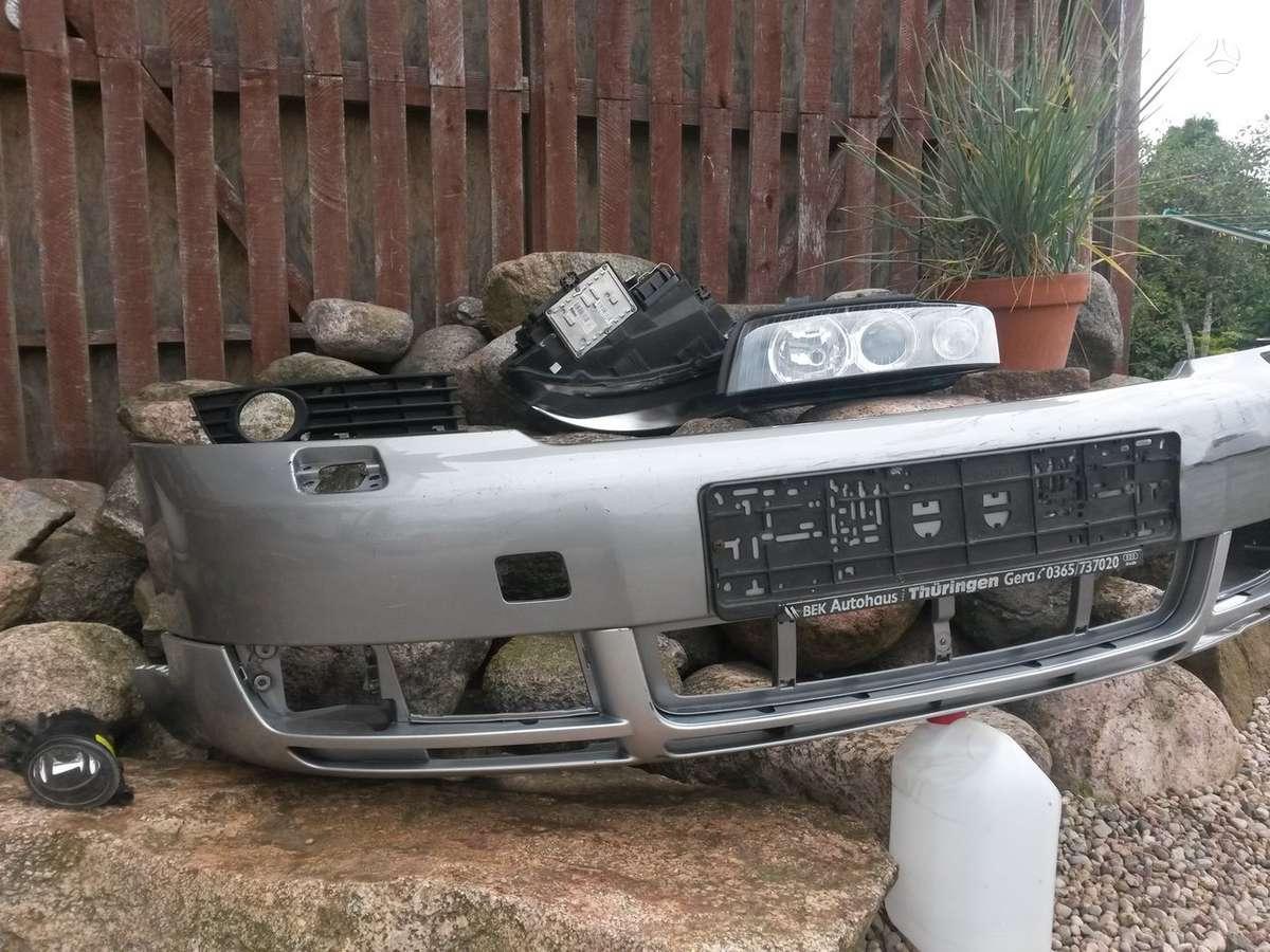 Audi A4. Pr. kapotas sparnai  pr. žibintai paprasti , bi-xenon