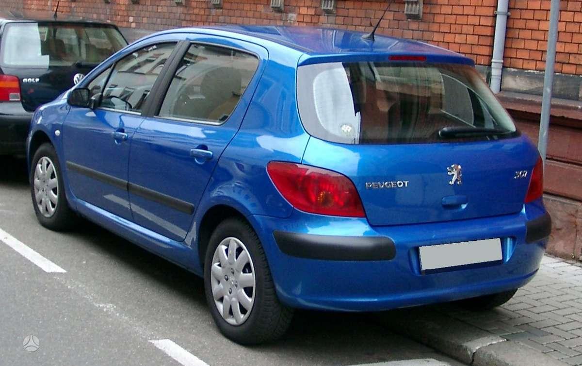 Peugeot 307. Turiu 1.6 hdi ir 1,4 hdi