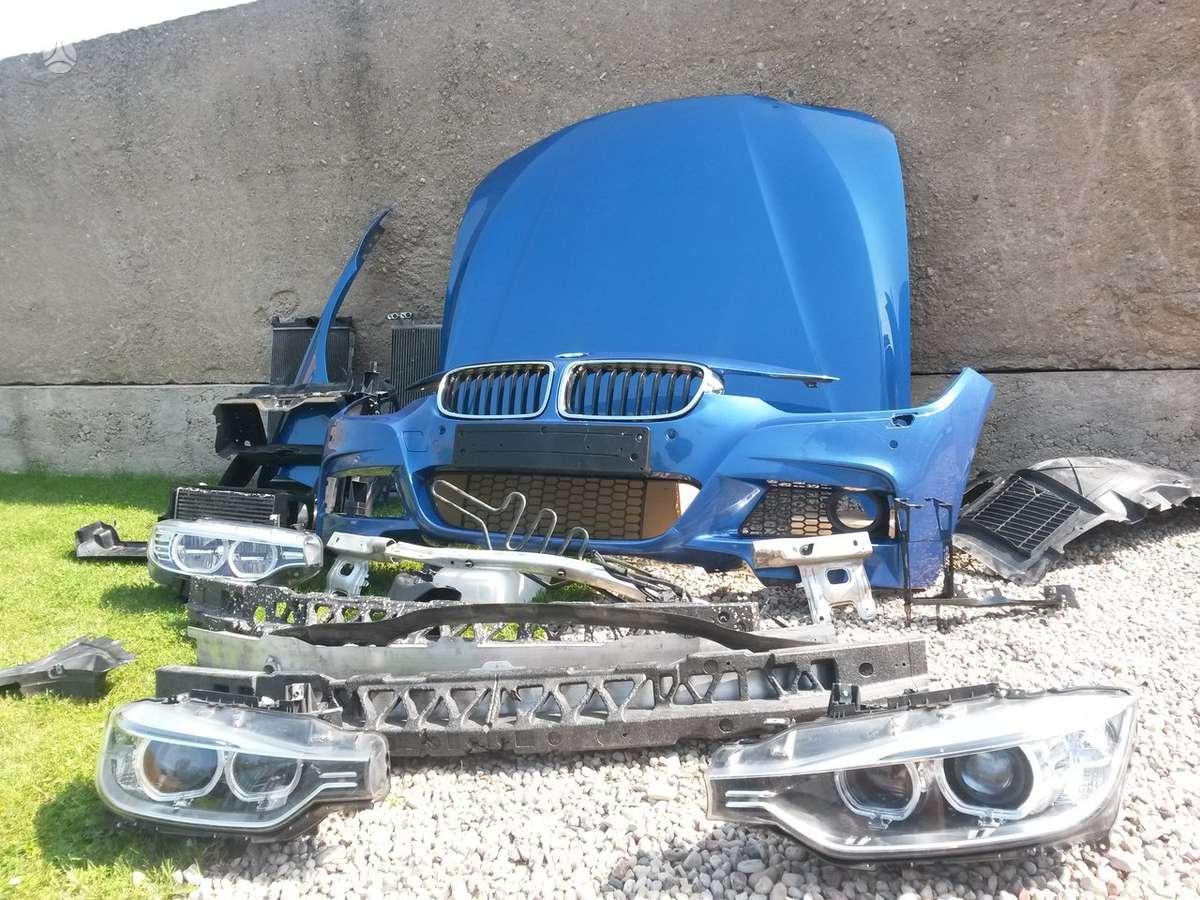 BMW 3 serija. Pr.gal.buferiai, pr.buferio balkis,  pr.kapotas,