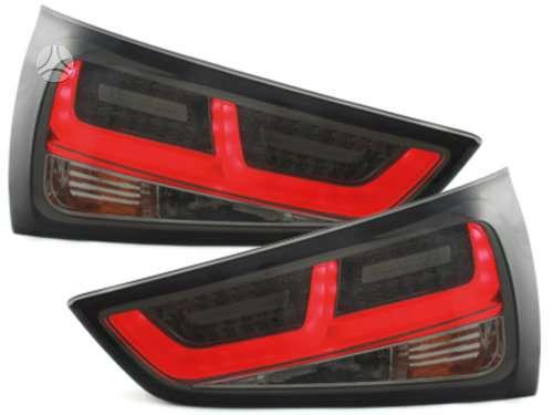 Audi A1. tuning dalys. galiniai tube zibintai-raudono-chrom;