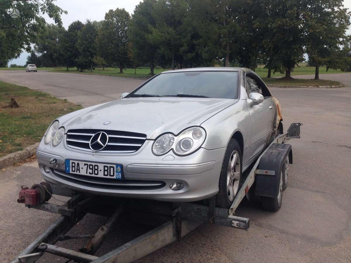 Mercedes-Benz CLK klasė. Start stop,navigacija, kei lets go,