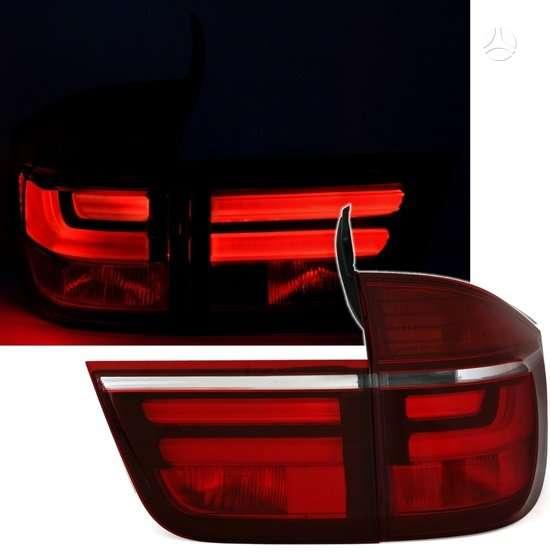 BMW X5. galiniai zibintai lci optik-raudoni-chrom ,raudoni-