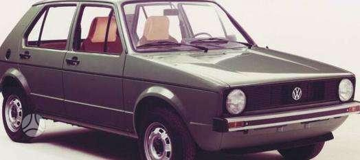 Volkswagen Golf dalimis. Pigios kėbulo dalys, žibintai,