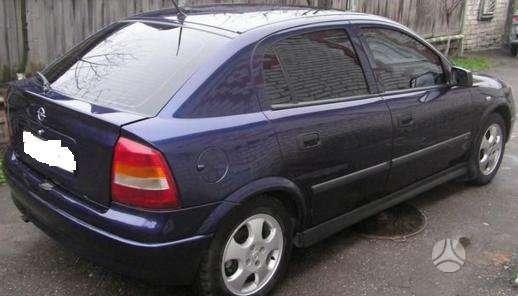 Opel Astra dalimis. Pigios kėbulo dalys, žibintai, radiatoriai.