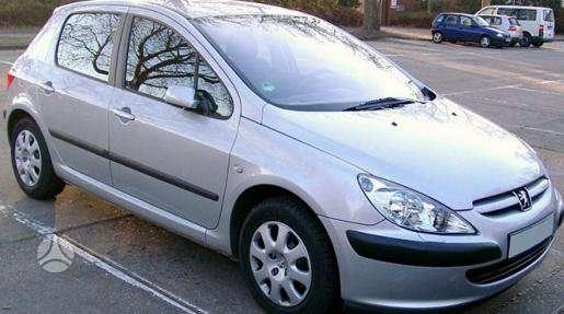Peugeot 307 dalimis. Pigios kėbulo dalys, žibintai, radiatoriai.
