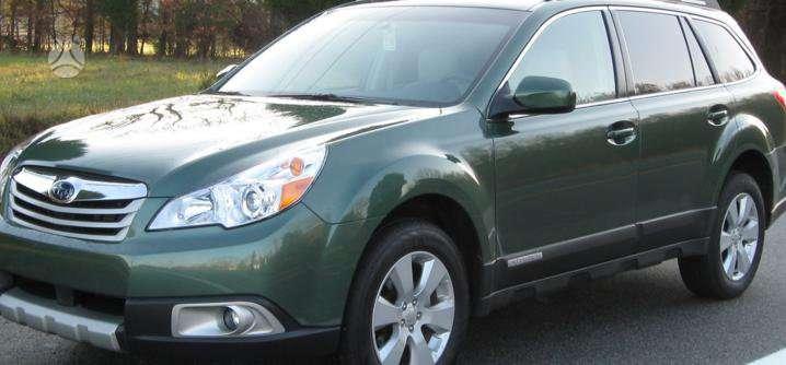 Subaru Outback dalimis. Kėbulo dalys, žibintai, radiatoriai.