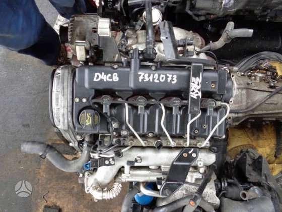 Kia Sorento. 2.5 crdi (d4cb) pilnas variklis...