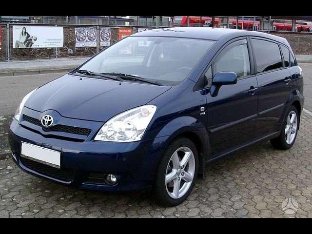 Toyota Corolla Verso. Naudotu ir nauju japonisku automobiliu ir