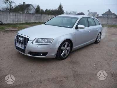 Audi A6 dalimis. 2 automobiliai audi a6 (c6), 2005 m., 2.7tdi,