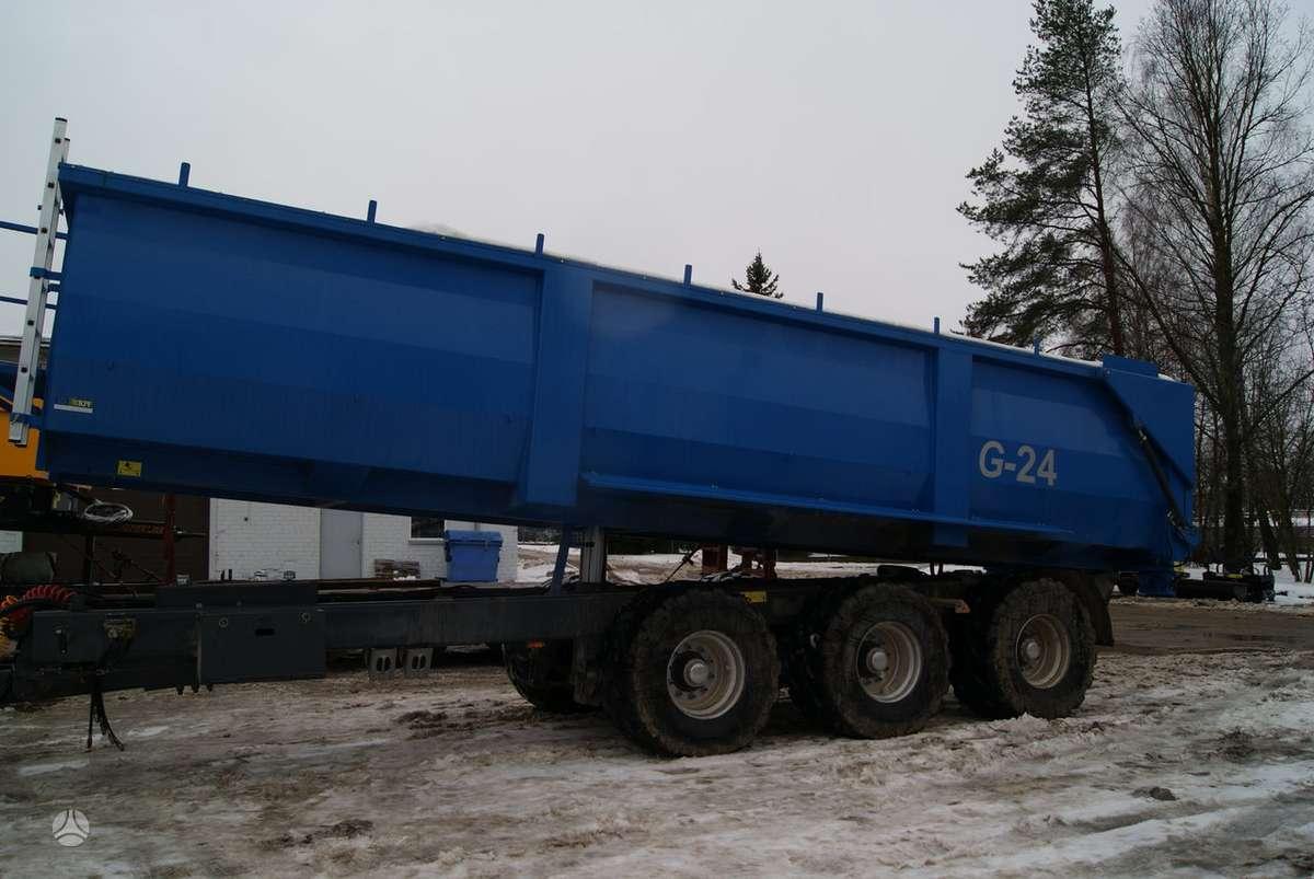UGB Grūdinė puspriekabė 24 tonų 3-, traktorinės priekabos