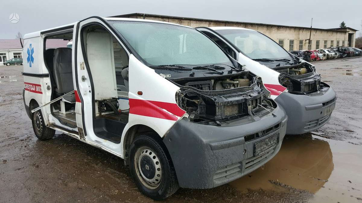 Renault Trafic dalimis. Prekyba originaliomis naudotomis detalė