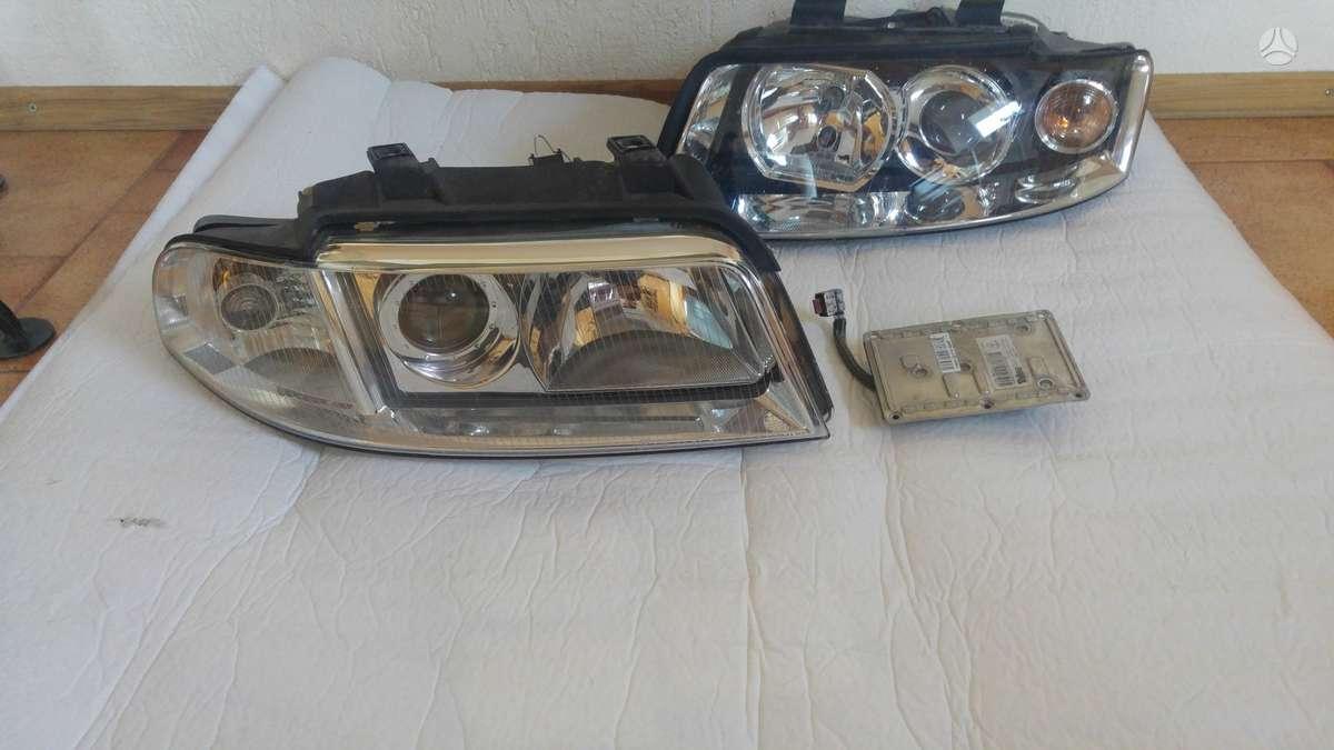 Audi A4. Priekiniai žibintai xenon su blokeliais ir lemputėm,