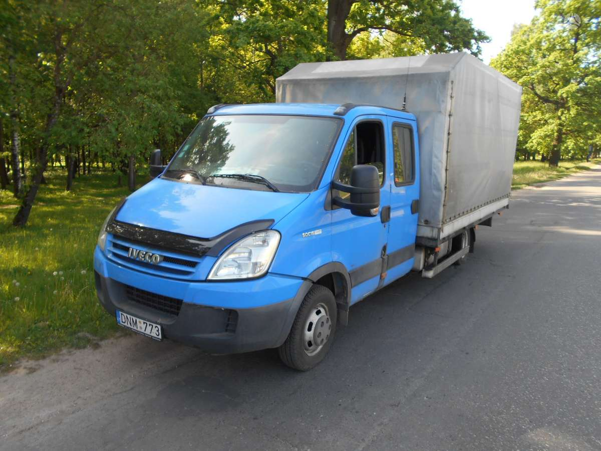Iveco Daily 50C15D, krovininiai mikroautobusai